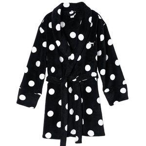 Victoria's Secret limited cozy robe polka dot